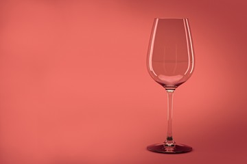 Empty wine glass 3d render