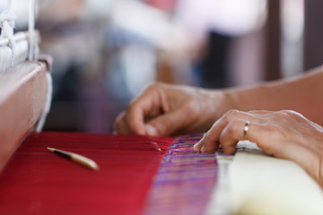 Hand weave silk cotton