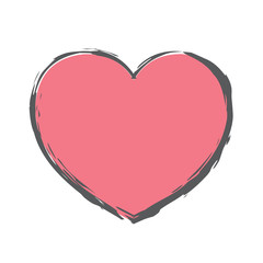 Rough Brush Icon - Heart