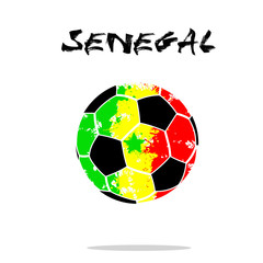 Flag of  Senegal as an abstract soccer ball