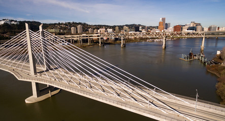 Willamette River Portland Oregon Downtown Bridges Transportation infrastructure