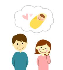 赤ちゃんについて考える夫婦