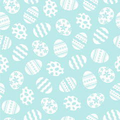 Repeating Reverse Easter Eggs Background Vector Illustration 1