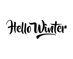 winter typography typographic creative writing text image icon