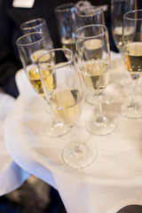 Champagne Flutes for Toast at Wedding