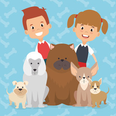 kids with pets characters