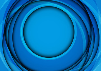 Abstract blue circle curve overlap with blank space design modern futuristic background vector illustration.