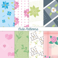 Cute patterns backgrounds