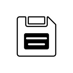 Floppy disk sign vector icon