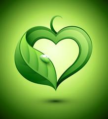 Nature coeur feuilles
