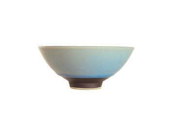 Ceramic bowls are placed on a white background.