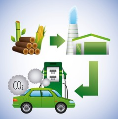 biofuel ecology alternative green technology innovation vector illustration