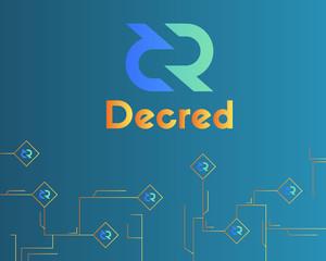 Blockchain decred symbol circuit network background