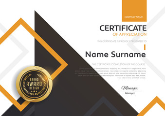 certificate template with modern pattern,diploma,Vector illustration.
