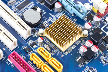 Computer circuit board Technology close up with processor