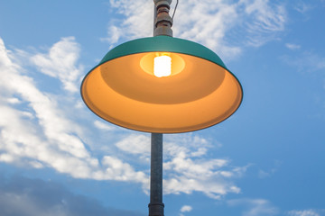 Sky concept with lamp a beautiful
