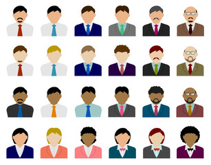 business person avatar illustration set