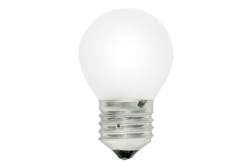 Light bulb isolated on white background. This has clipping path.