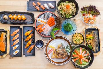 Japanese Food on tabel