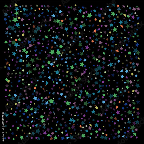 glitter vector falling stars pattern carnival festival confetti celebration border christmas new year
