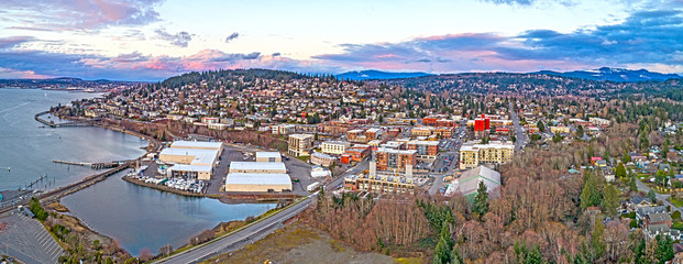 Fairhaven Bellingham Washington South Hill Waterfront Aerial Overview