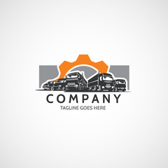 Vector cars, vans, minibuses, commercial vehicles logo.