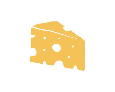 Yellow Cheese Food Illustration Sign Symbol Icon Logo Vector