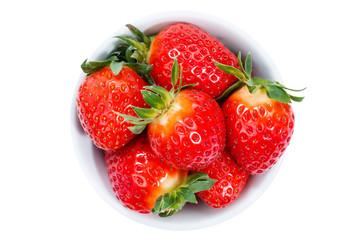 Erdbeeren Beeren von oben isoliert freigestellt Freisteller