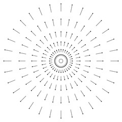 line and round graphic vector