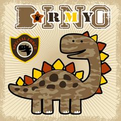 Dino army cartoon
