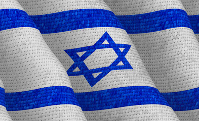 Illustraion of a flying Israeli Flag