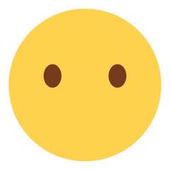 Emoji blank - Gesicht ohne Mund
