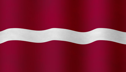 Illustraion of Latvian Flag