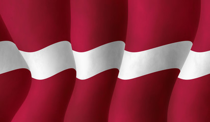 Illustration of a Latvian flying flag