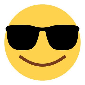 Emoji cool - mit Sonnenbrille
