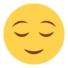Emoji zufrieden