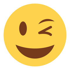 Emoji zwinkernd