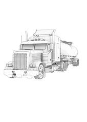 sketch of truck vector.