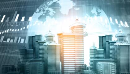 3d illustration of real-estate background.