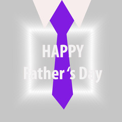 Happy 's father day of concept with necktie and suit design with illustration design