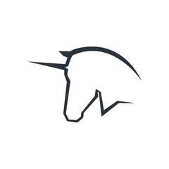 Unicorn Head Logo symbol.