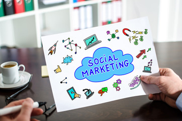 Social marketing concept on a paper