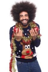 Christmas afro man