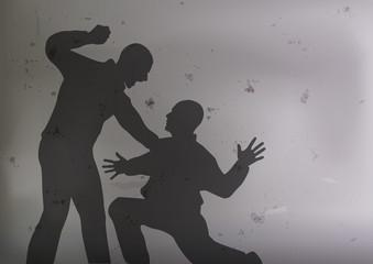 bagarre - violence - agression - coup de poing - ennemi - brutal - victime - attaquer - brutalité