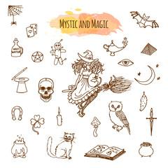 Magic stuff in doodle style