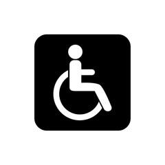 Disable icon. Person silhouette icon. Flat design. Vector illustration.