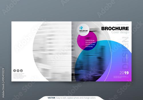 Square Brochure Design Violet Purple Corporate Business Rectangle Template Report Catalog