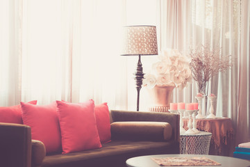 Living room vintage with sofa.
