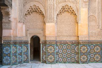 Ben Youssef Madrasa, 16th century Islamic College, UNESCO World Heritage Site, Marrakesh, Morocco, North Africa, Africa