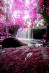Landscape photo,Waterfall in Phu kradueng national park, beautiful waterfall in Thailand